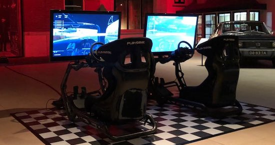 top gear race simulator beurs