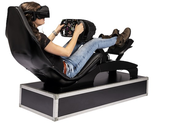 VR race simulator F1